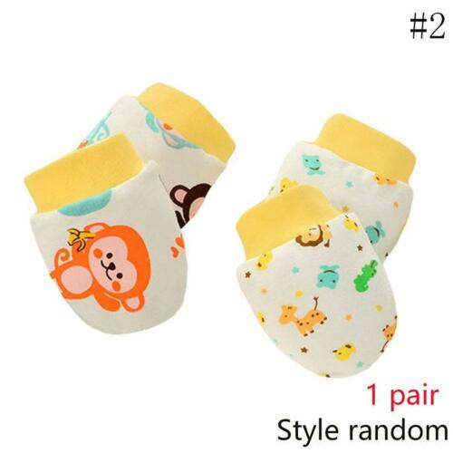 Newborn Boy Girl Infant Cotton Handguard Anti Scratch Mittens Gloves Super