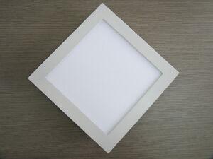 Plafoniere Da Incasso Per Controsoffitti A Led : Plafoniera a led quadrata incasso soffitto controsoffitto bianco