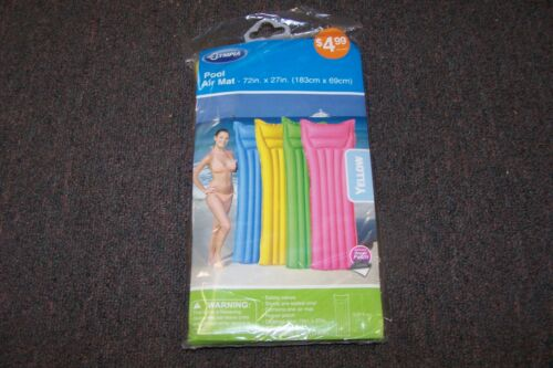 """Olympia Pool Air Mat NEW in Pack 72/"""" x 27/"""" Yellow or Green Bestway with Patch"""