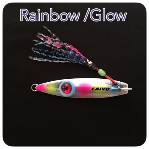 CAIVO SPRATLYS METAL VERTICAL JIGS Col:RAINBOW//GLOW SLOW Jigs,
