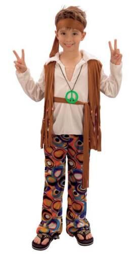anni/'60 anni/'70 ragazzi bambini libro settimana Hippy BOY BAMBINO COSTUME HIPPIE