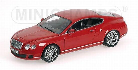 Minichamps 100139620 Bentley Continental GT 2008 en rojo 1 18 nuevo embalaje original