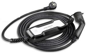 EV Ladegerät Typ 2 Tragbare 10A/16A Schaltbar Modus 2 ladekabel Schuko IEC 62196
