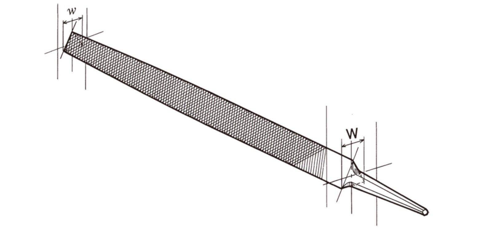 TSUBOSAN Steel File Smooth Fine Cut 015 Triangular Type 6  - 16   made in japan