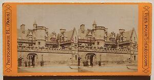 Parigi Museo Da Cluny Francia Stereo Vintage Albumina Ca 1870