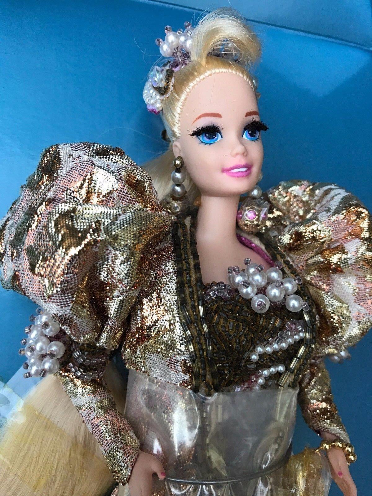 Raro ProjoOTIPO de jubileo de oro de Barbie Muñeca de muestra con adhesivo en la caja de la muestra