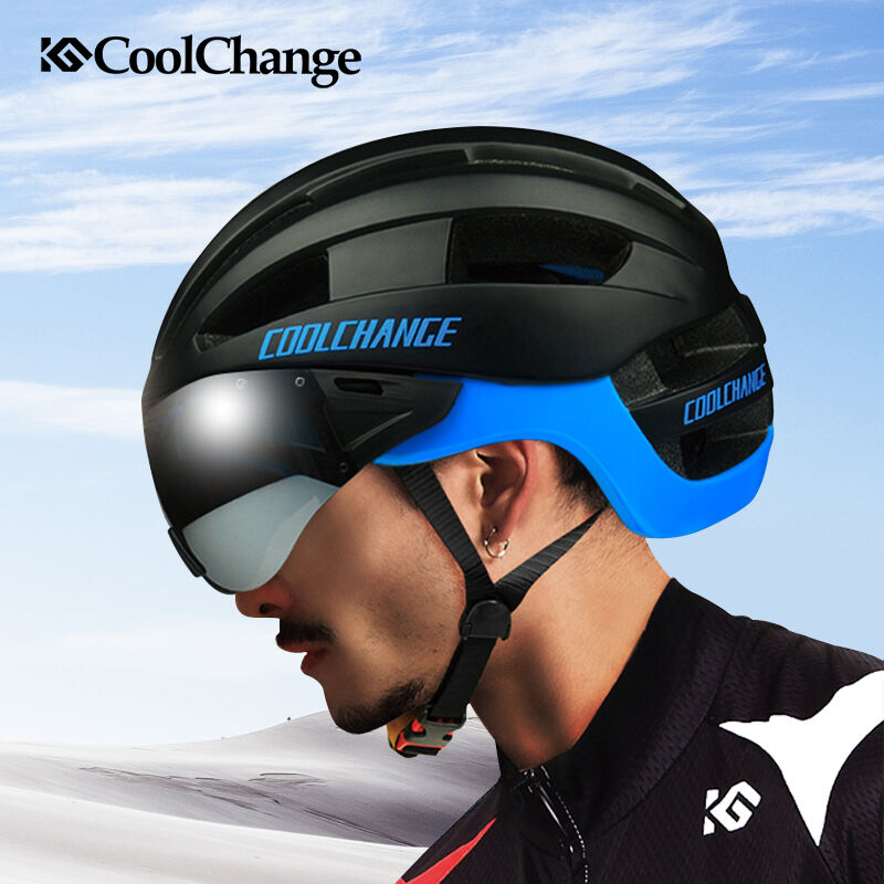 Unisex Adult MTB Bike Bicycle Cycling Outdoor Safety Helmet with Goggles 4 color