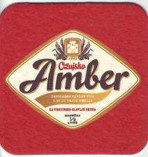 Beer coaster Bierdeckel sottobicchiere - Ožujsko Amber Beer; Zagreb, Croatia