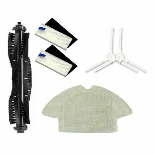 Für QIHU 360 S6 Staubsauger Haupt-//Seitenbürte+Filter+Mopptuchreinigungswerkzeug