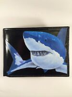 Shark Decorated Leather Wallet - M125