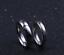 Coppia-anello-Fedi-Fedine-Fidanzamento-Cuore-Spezzato-acciaio-incisioni-charms miniatura 3