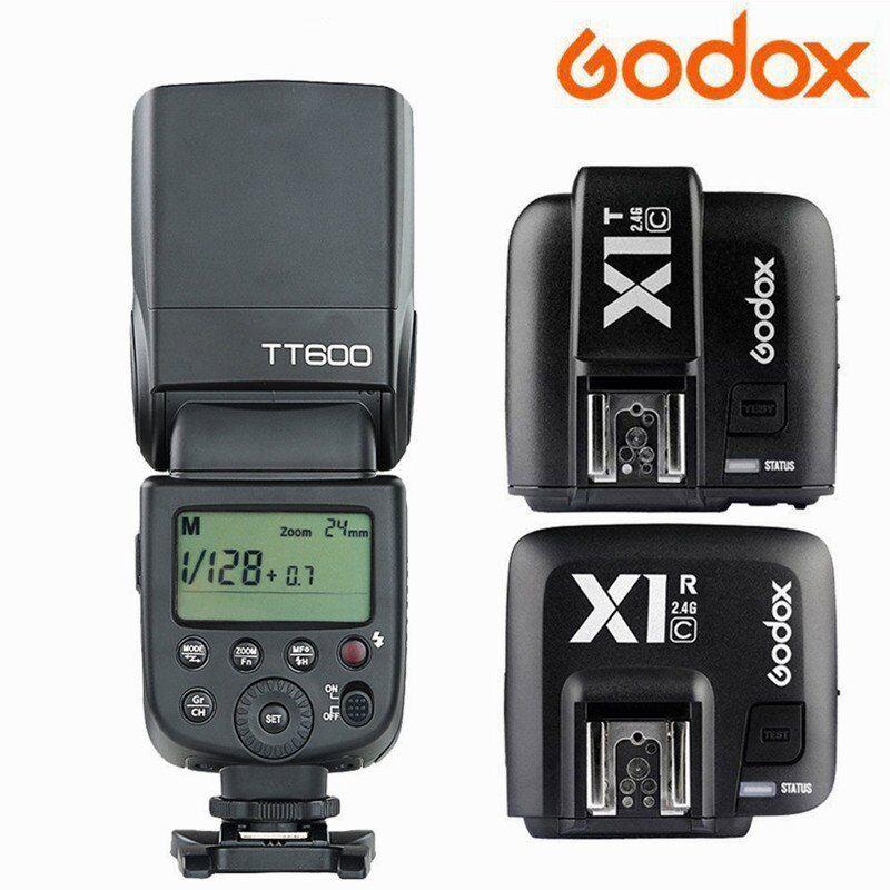 Godox TT600 Wireless TTL Flash Speedlight&X1R-C Receiver+X1T-C Trigger for Canon