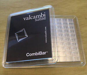Valcambi Suisse 100g (100x1g) .999 Pure Silver CombiBar SEALED