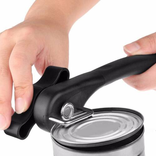 Manual Ergonomic Smooth Edge Side Cut Can Opener Cans Lid Lifter Home Collection