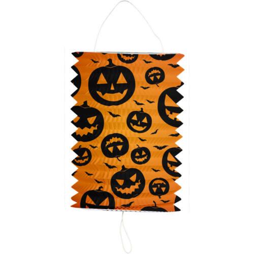 Zuglaterne Lampion Kürbis Halloween Orange//Schwarz 16x22 cm Neu /& OVP
