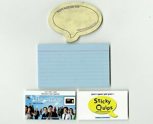 034-The-Office-034-screen-used-blue-file-card-plus-Sticky-Quips-Speech-Bubble-Balloon