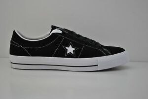 Details about Mens Converse One Star Suede Ox Skateboard Shoes Size 9 13 Black White 149908C