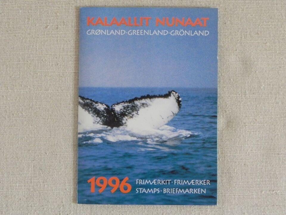 Grønland, postfrisk, Årsmappe 1996