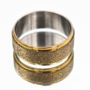 Details about New Exquisite Korea Zinc alloy matte golden rings 6-11# jz#15