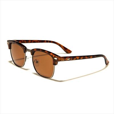 Clubmaster Retro Vintage Sunglasses Unisex Men Women UV400 Half Rimmed Frames