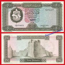 LIBIA LIBYA 5 Dinars dinares 1972 Pick 36b   SC  /  UNC