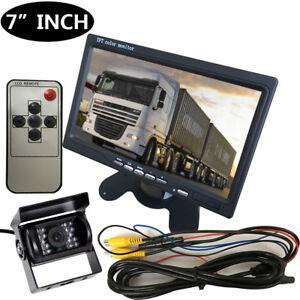 12V-24V-Car-Reversing-Camera-RCA-7-034-LCD-Monitor-Truck-Bus-Van-Rear-View-Kit-10M