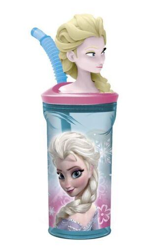 Frozen Anna Disney Bicchiere Tazza con Figura in 3D con cannuccia,gioco bambini