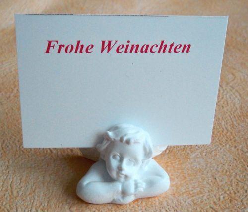 Joli petit ange miniature porte carte-Blanc-non seulement pour Noël