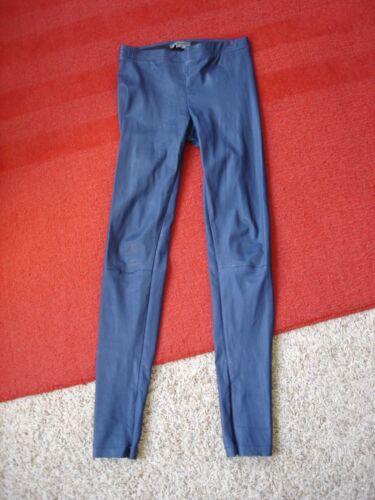 Skinny Lamm Leggings Ny Blå Xs Zip Læder Ankel Størrelse Bukser Nwot 995 Ægte 1Y64A60q
