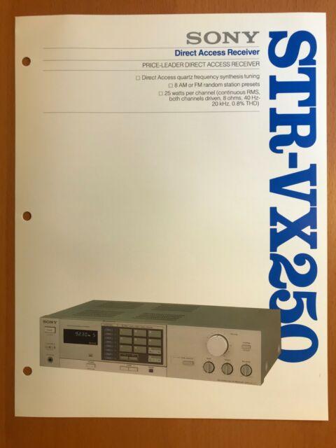 ORIGINAL MARKETING BROCHURE SONY STR-VX250 DIRECT ACCESS RECEIVER D611