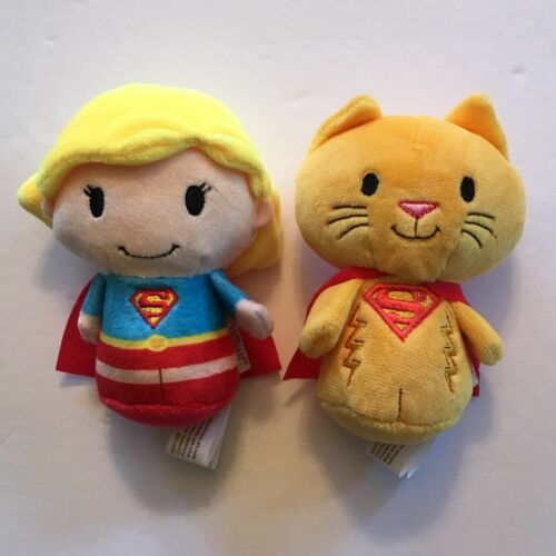 Hallmark ITTY BITTY Set of 2 SUPERGIRL & CAT STREAKY Collectors Set NO BOOK