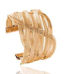 Fashion Unisex Gold Punk Bangle Chain Open Cuff Wide Big Bracelet Wristband UK