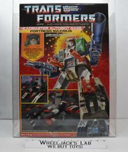 Fortress Maximus AFA Qualified Q80 Archival Pre Rub 1984 G1 Transformers Hasbro