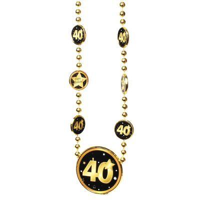 """Halskette mit großer /""""50/"""" in Schwarz//Gold zum 50.Geburtstag Party Deko Kette"""