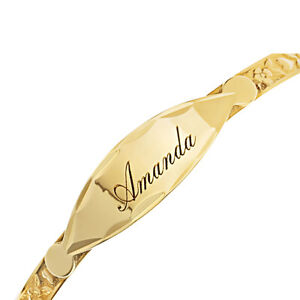 Personalised-9ct-Real-Gold-Baby-Expandable-Bangle-Christening-Birthday-Bracelet