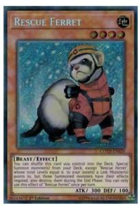 2X-Rescue-Ferret-COTD-EN029-Secret-Rare-1st-Edition-Code-of-the-Duelist
