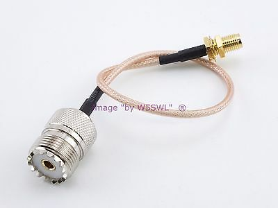 """Wouxun BaoFeng China Walkie Talkie HT 8/"""" RG-316 Antenna Cable Sold by W5SWL ®"""