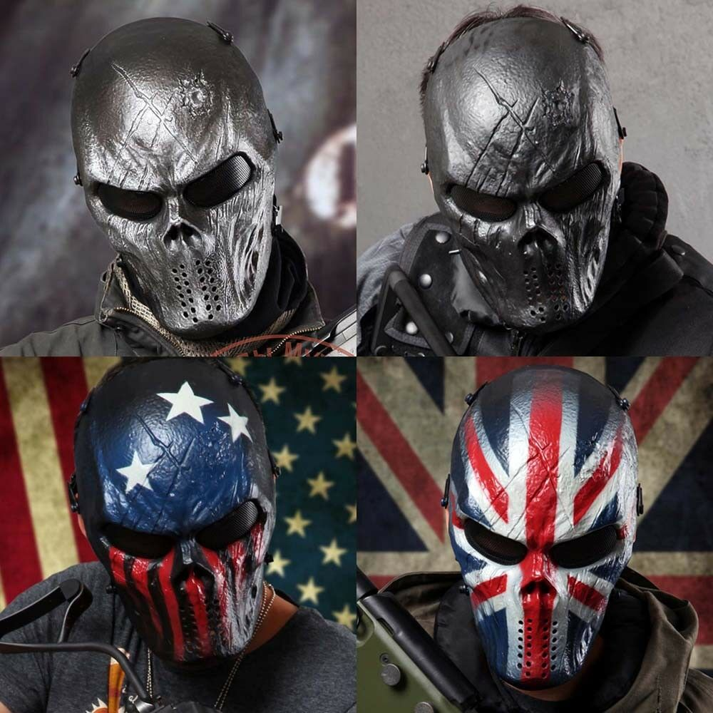 Full Face Skull Skeleton For CS Airsoft Paintball Tactical Military Masks Ghost
