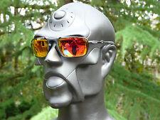 NEW! OAKLEY BADMAN Sunglasses Dark Carbon / Ruby Iridium Polarized OO6020-03