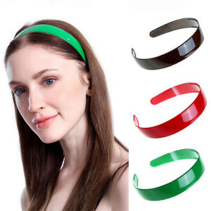 Women-039-s-Plastic-Headband-Solid-Color-Hairband-Hair-Band-Hoop-Accessories-Party