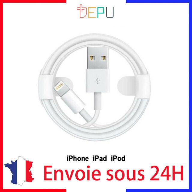 Cable IPHONE Lightning Usb 1m Apple 6 6sp 7p 8p X S R Max qualité originale