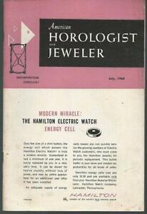 American Horologist and Jeweler Magazine July 1960 Diamonds Henriline Watches