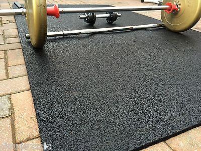 100% RUBBER Gym Mat COMMERCIAL Flooring 10mm EXTRA THICK garage workshop mats !!