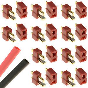 10-x-PAIRS-Deans-T-Plug-Gold-RC-Connectors