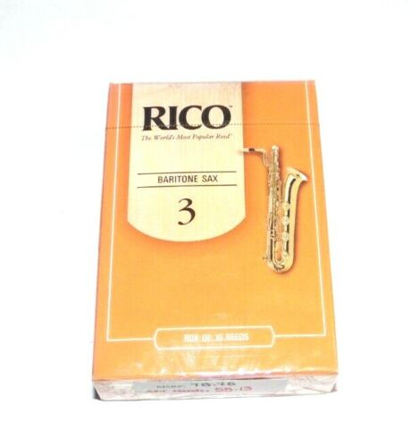 Rico D/'Addario Strength 3 Baritone Saxophone Reeds 10 Pack Sealed Box RLA1030