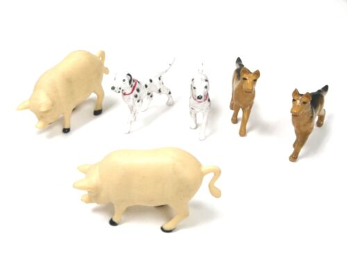G scale 1:32 Animal Figures for Model Train Layout Pig Dog