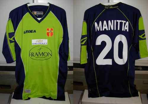 Messina shirt maglia manitta nr 20 taglia XL 2007-08 2007-08 2007-08 legea verde 933299