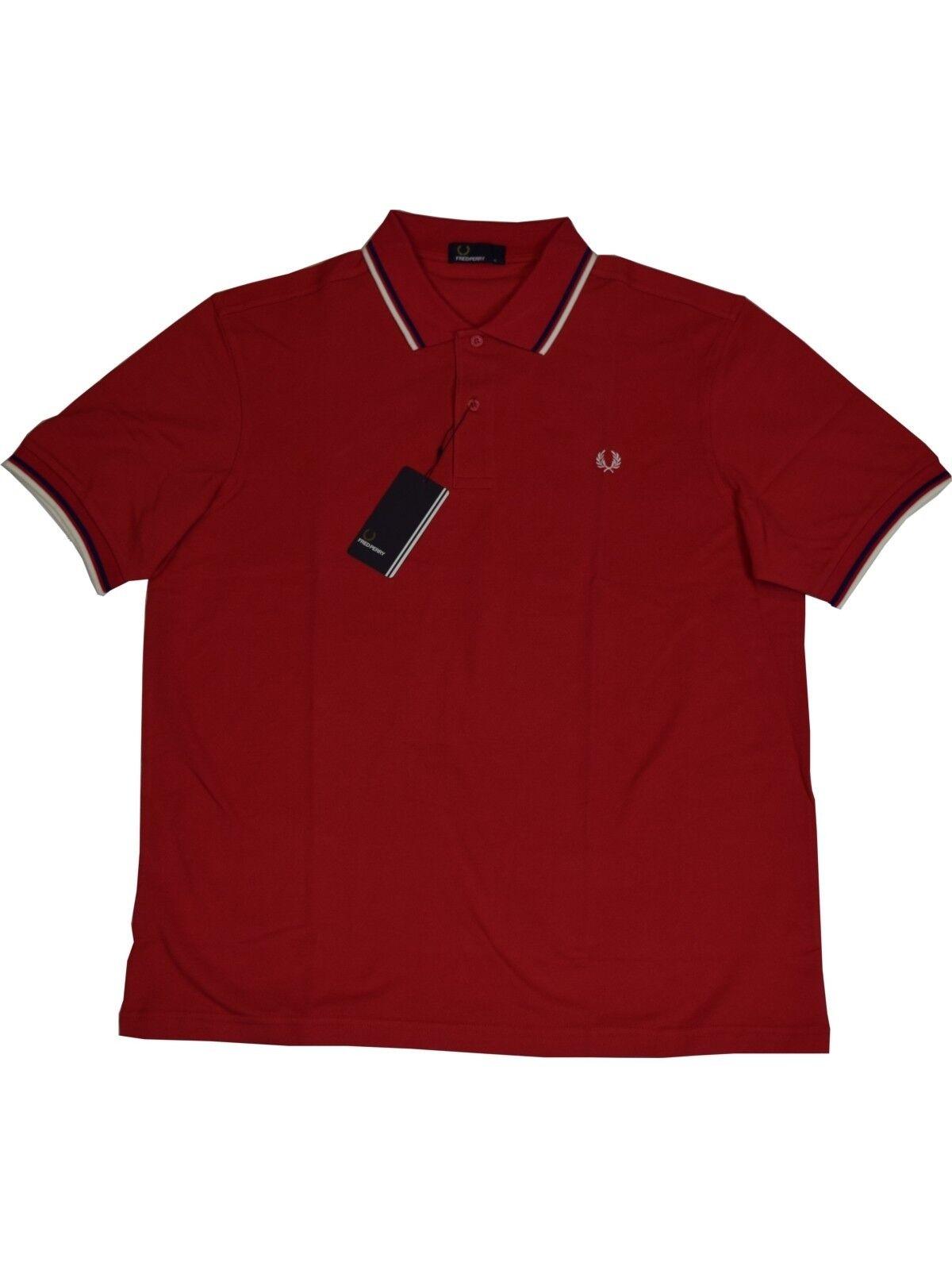 FROT Perry Polo - Shirt M1200 B08 Rot / Blau / Weiß  5377