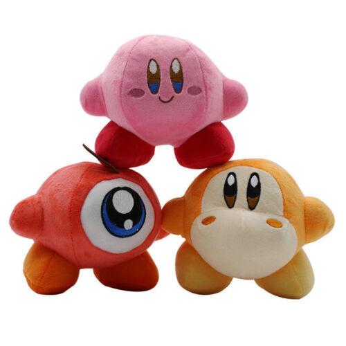 3PCS Cute Kirby Game Plush Toy Cuddly Little Buddy Stuffed Doll Soft Toys Kiids