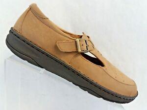 Drew-Amelia-Women-Tan-Leather-T-Strap-Mary-Jane-Comfort-Orthotics-Casual-9-5-W